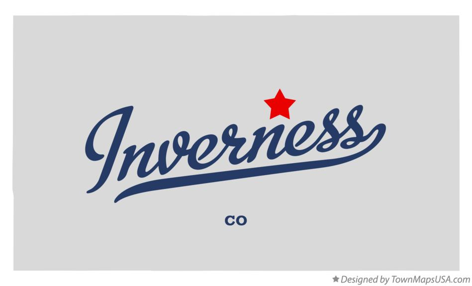 Map of Inverness Colorado CO