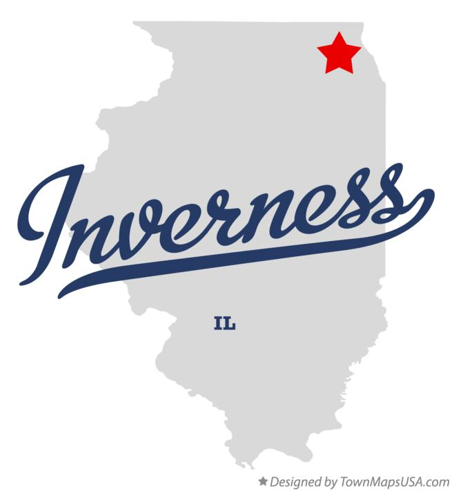Map of Inverness Illinois IL