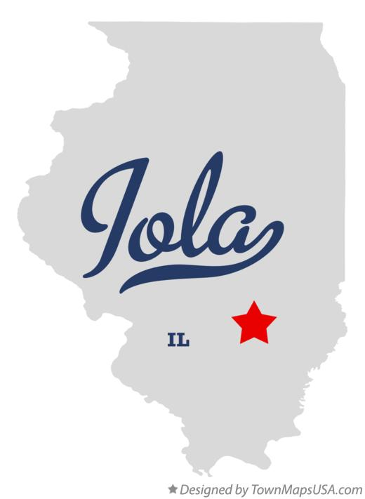 Map of Iola Illinois IL