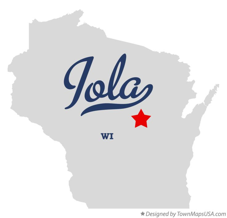 Map of Iola Wisconsin WI