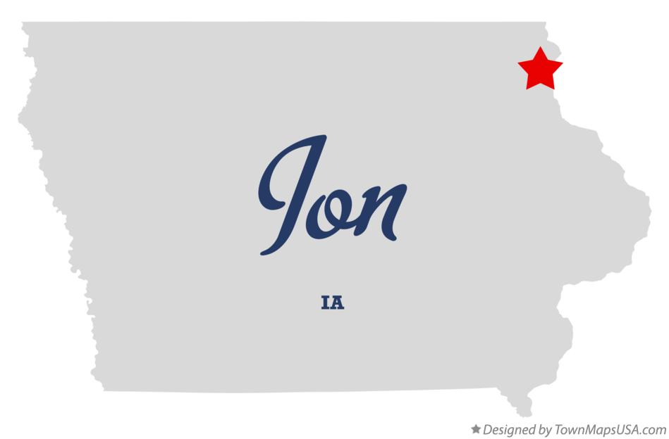 Map of Ion Iowa IA