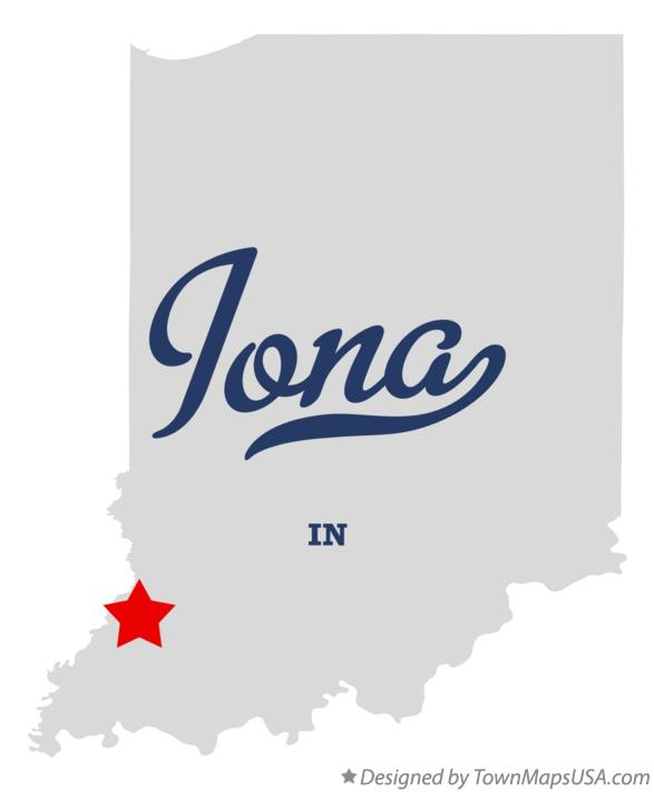Map of Iona Indiana IN