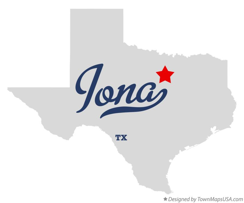 Map of Iona Texas TX