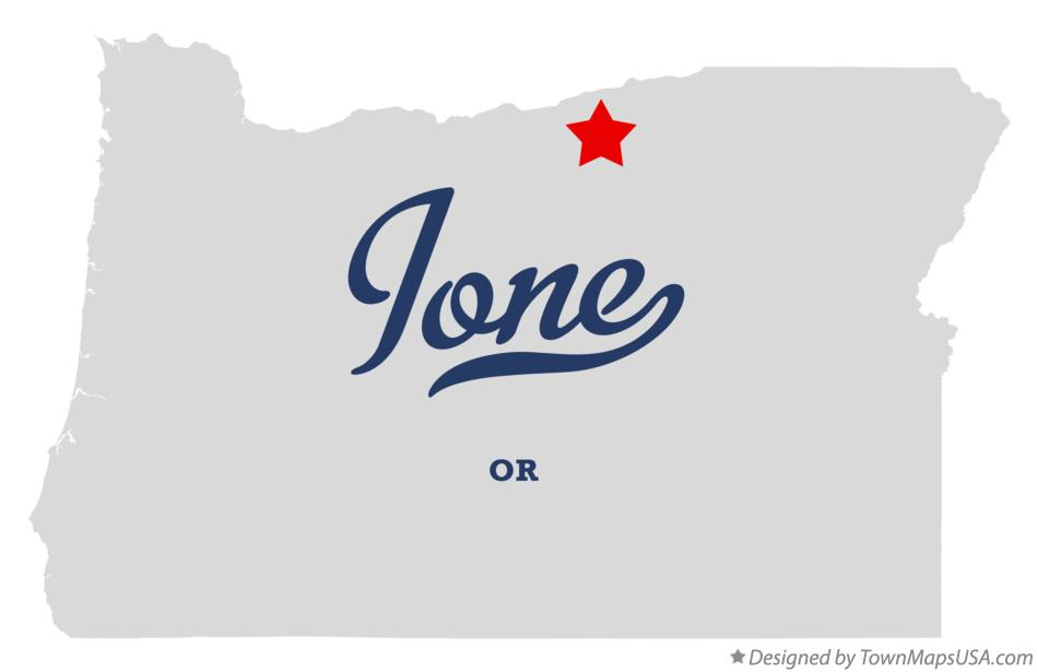 Map of Ione Oregon OR