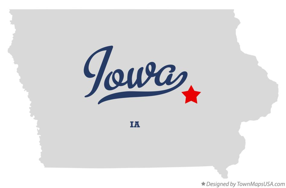 Map of Iowa Iowa IA