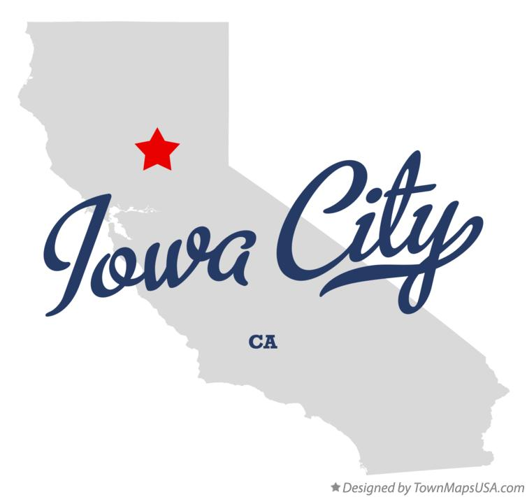 Map of Iowa City California CA