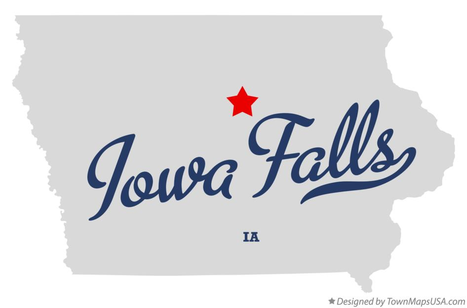 Map of Iowa Falls Iowa IA