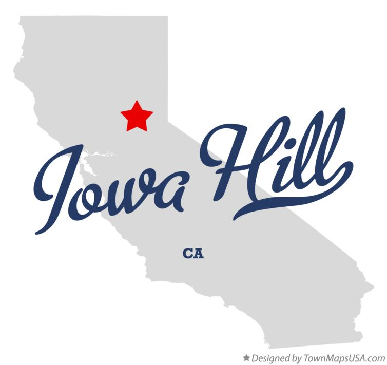 Map of Iowa Hill California CA
