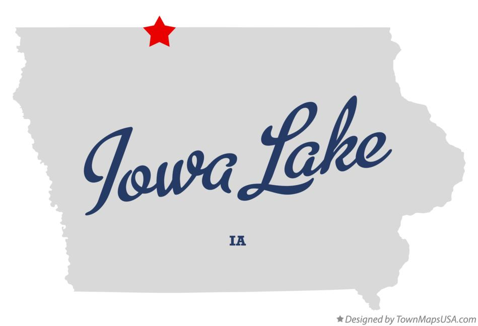 Map of Iowa Lake Iowa IA