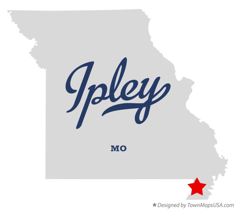 Map of Ipley Missouri MO
