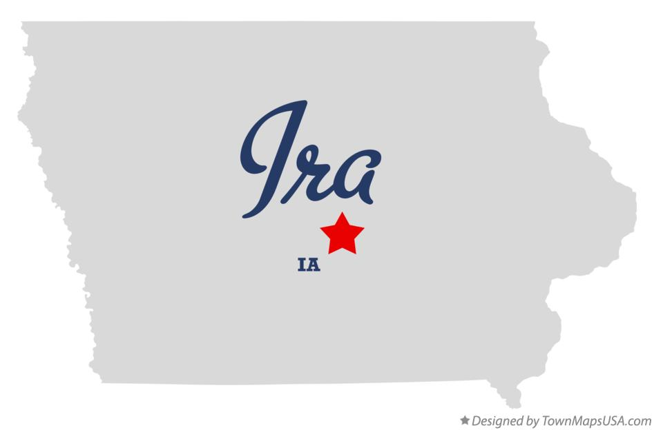 Map of Ira Iowa IA