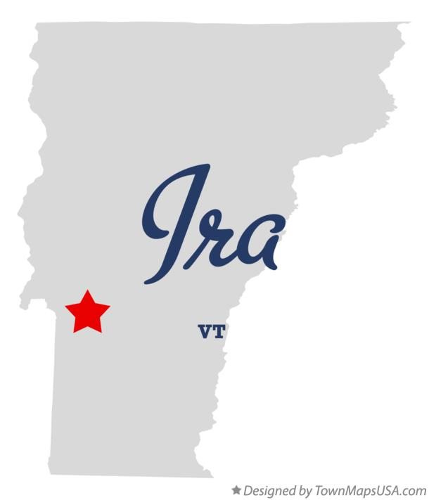 Map of Ira Vermont VT