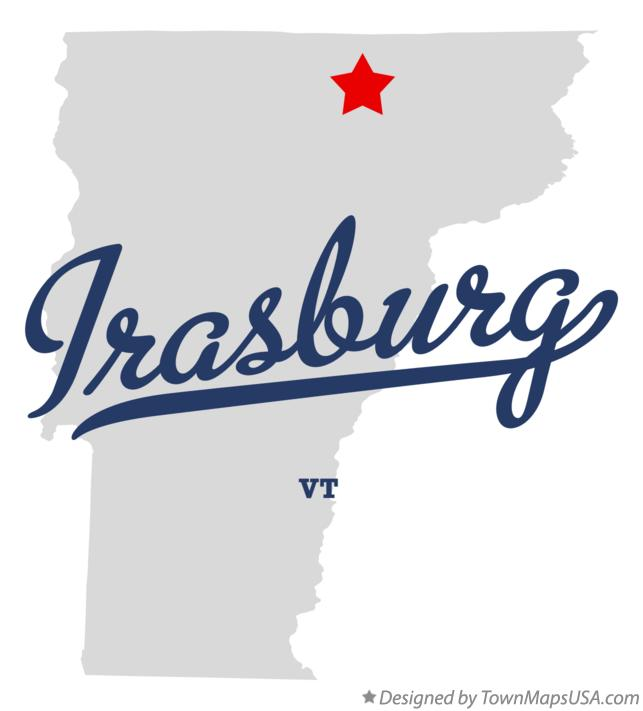 Map of Irasburg Vermont VT
