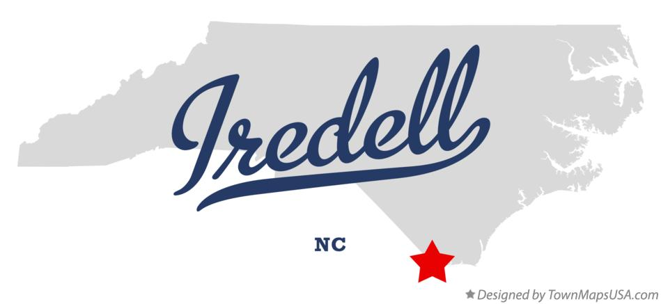 Map of Iredell North Carolina NC