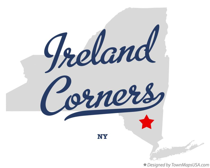Map of Ireland Corners New York NY
