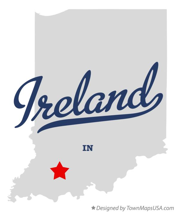 Map of Ireland Indiana IN