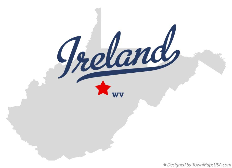 Map of Ireland West Virginia WV