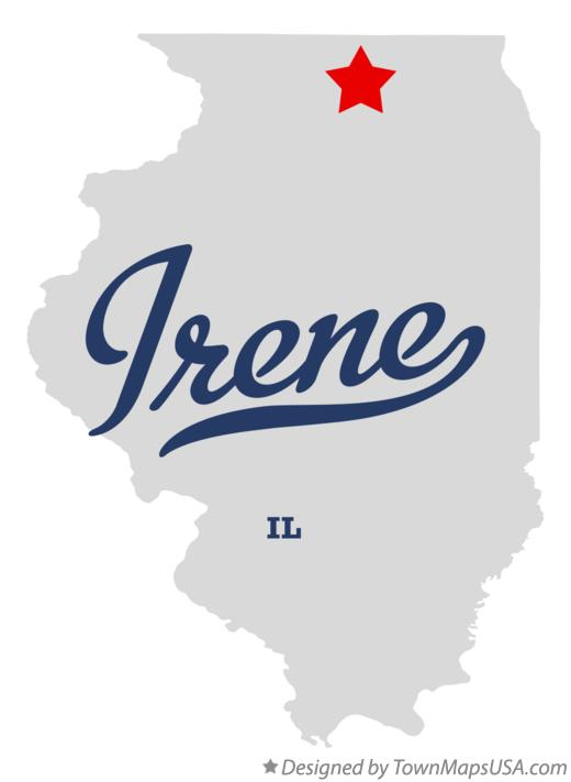 Map of Irene Illinois IL
