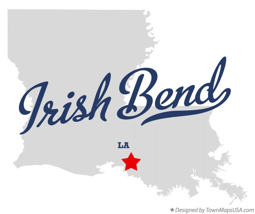 Map of Irish Bend Louisiana LA