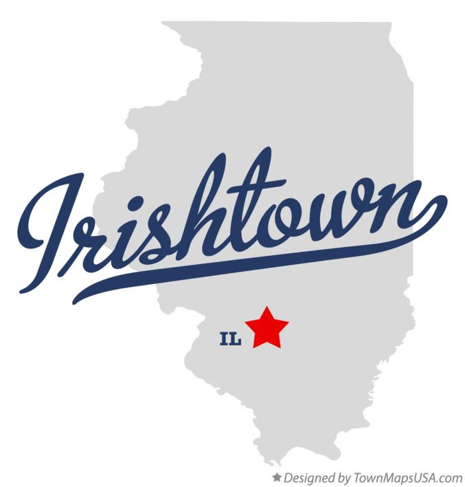 Map of Irishtown Illinois IL