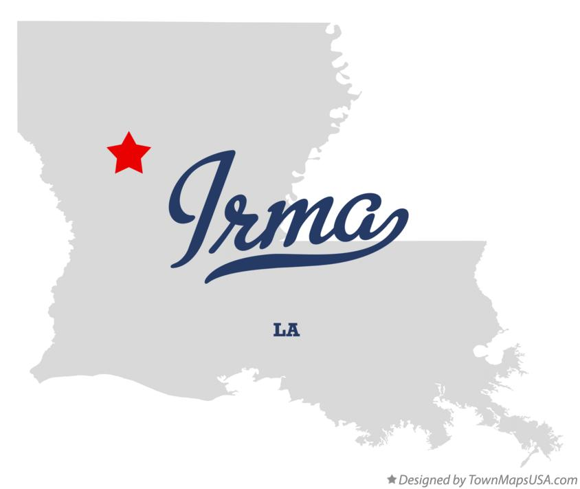 Map of Irma Louisiana LA