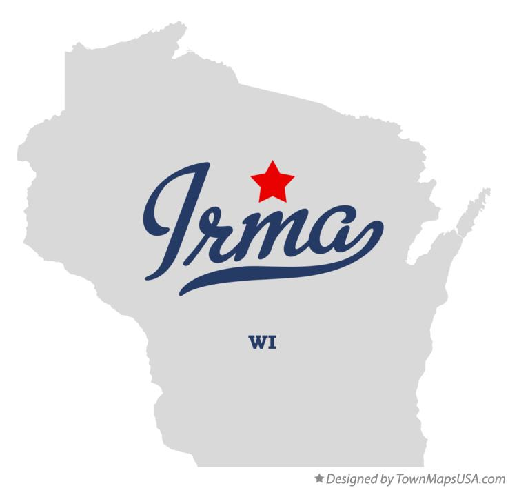 Map of Irma Wisconsin WI