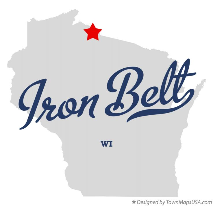 Map of Iron Belt Wisconsin WI