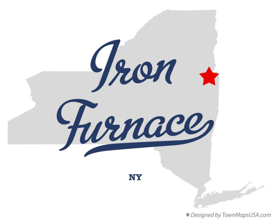 Map of Iron Furnace New York NY