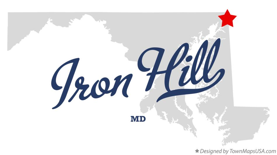 Map of Iron Hill Maryland MD