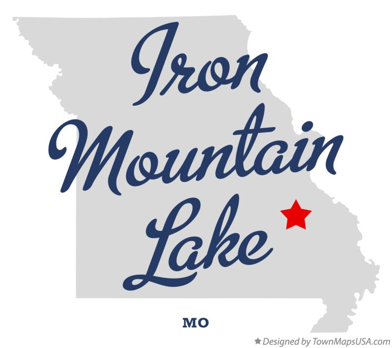 Map of Iron Mountain Lake Missouri MO