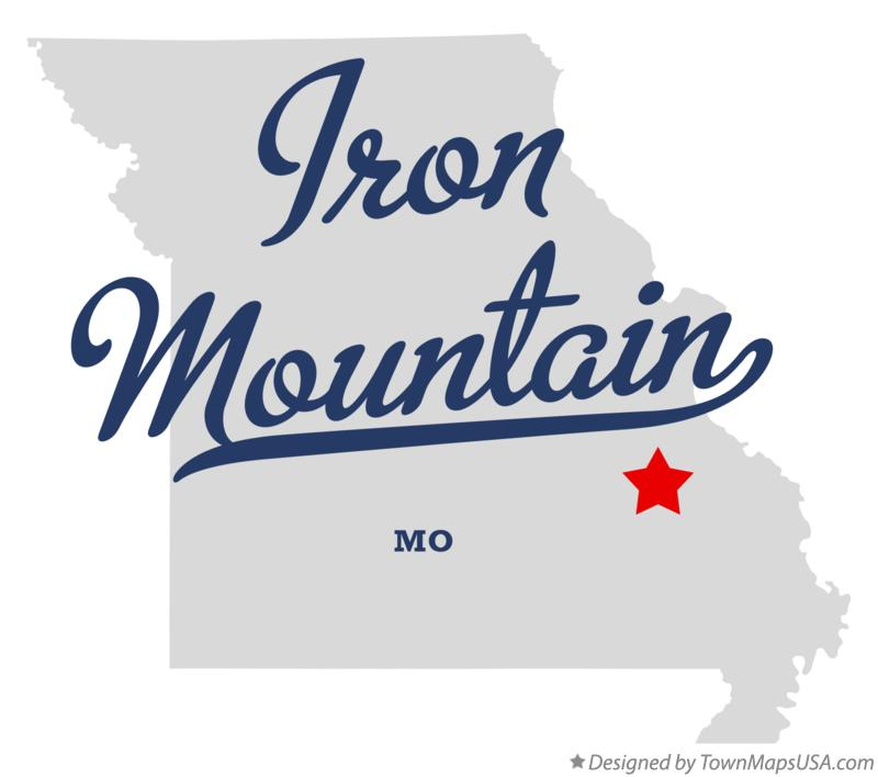 Map of Iron Mountain Missouri MO