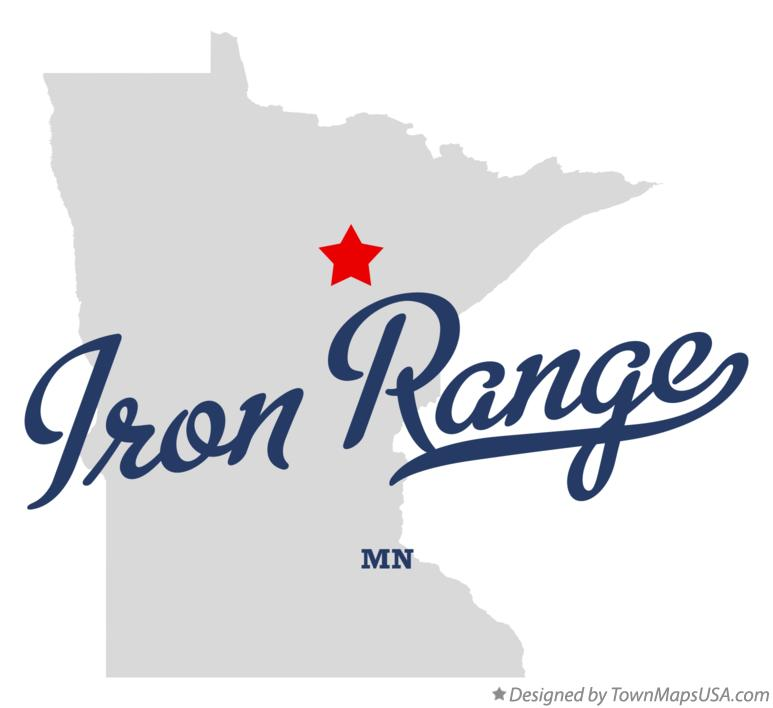 Map of Iron Range Minnesota MN