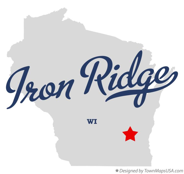 Map of Iron Ridge Wisconsin WI