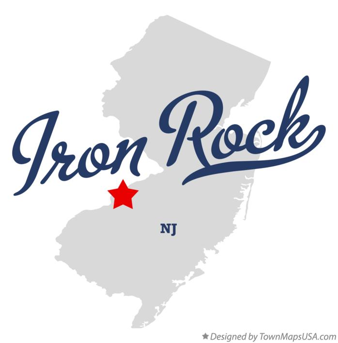 Map of Iron Rock New Jersey NJ