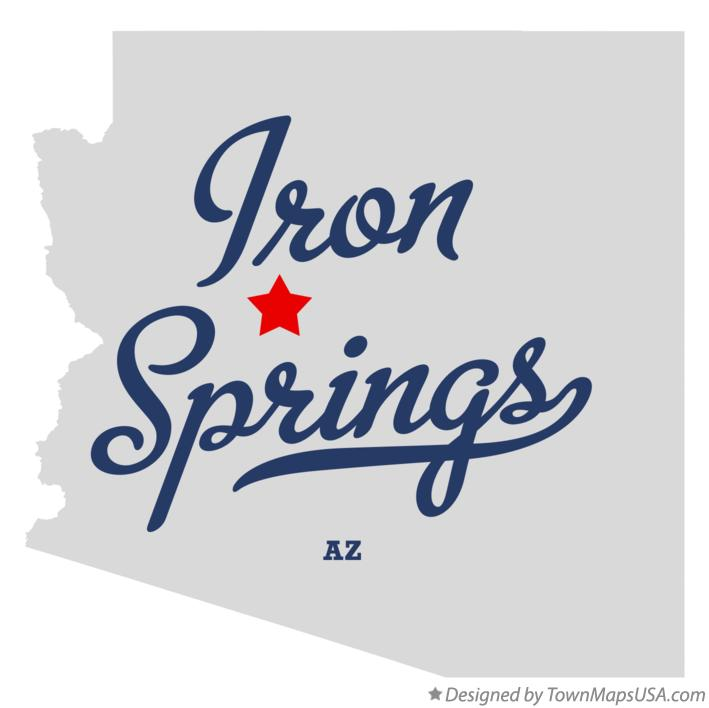 Map of Iron Springs Arizona AZ