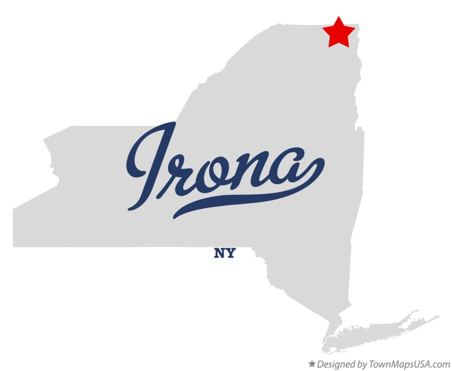 Map of Irona New York NY