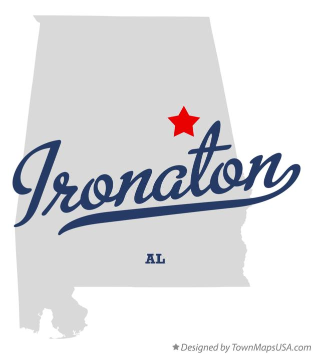 Map of Ironaton Alabama AL