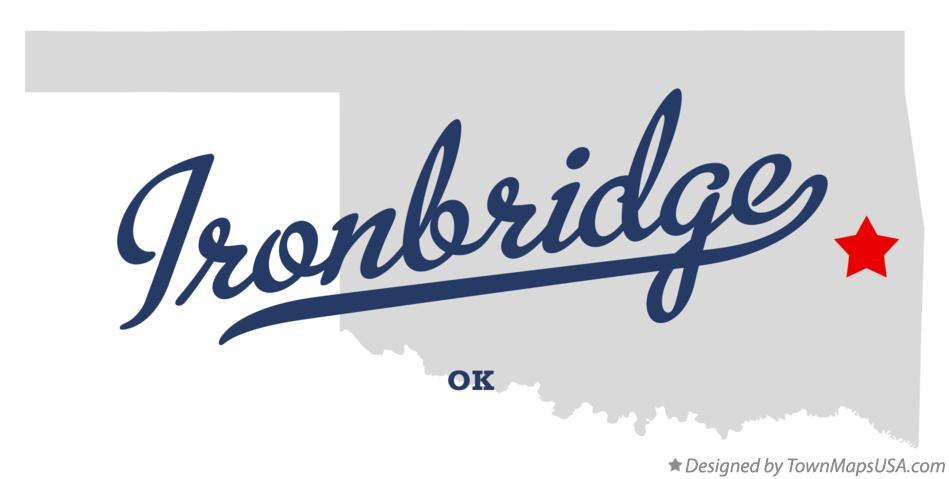 Map of Ironbridge Oklahoma OK