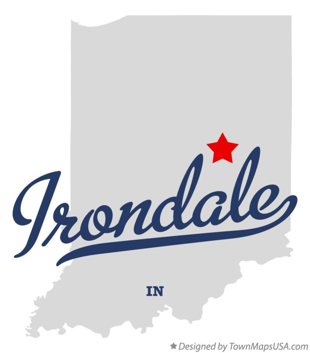 Map of Irondale Indiana IN