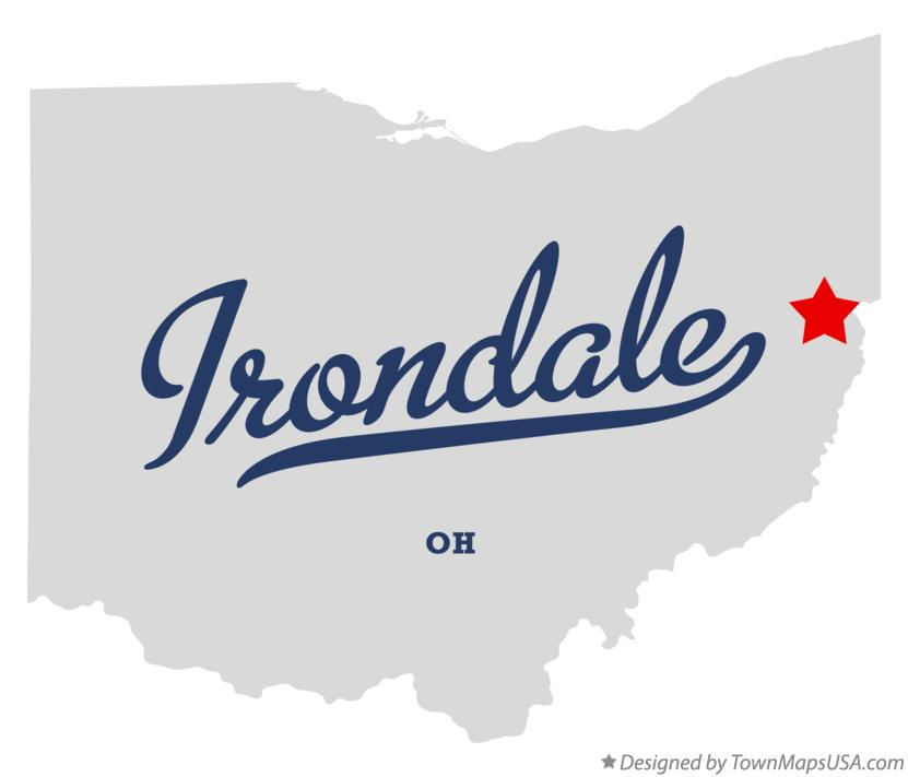 Map of Irondale Ohio OH