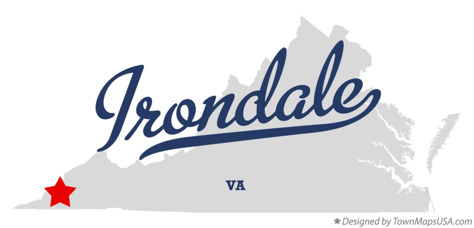 Map of Irondale Virginia VA