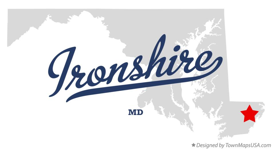 Map of Ironshire Maryland MD