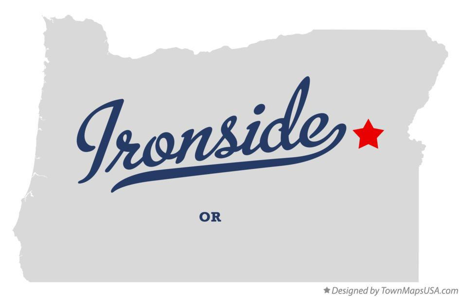 Map of Ironside Oregon OR