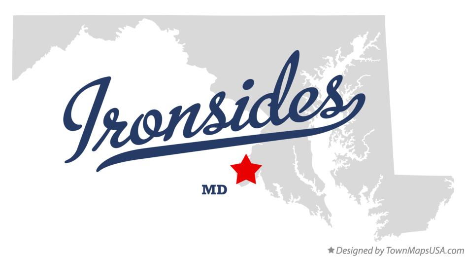 Map of Ironsides Maryland MD
