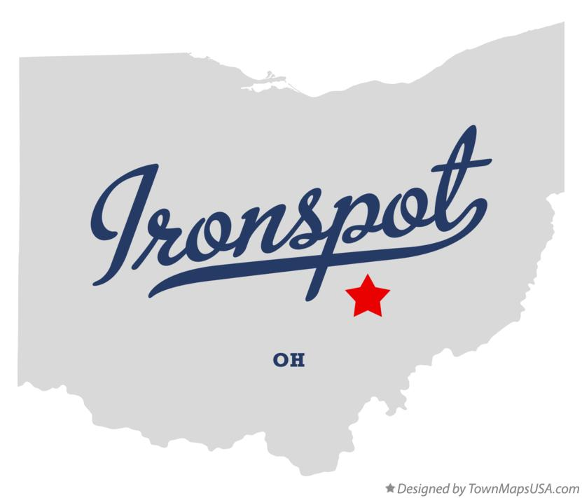 Map of Ironspot Ohio OH