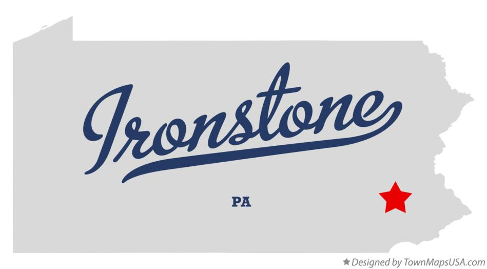 Map of Ironstone Pennsylvania PA