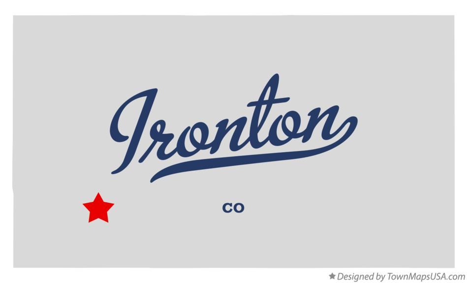 Map of Ironton Colorado CO