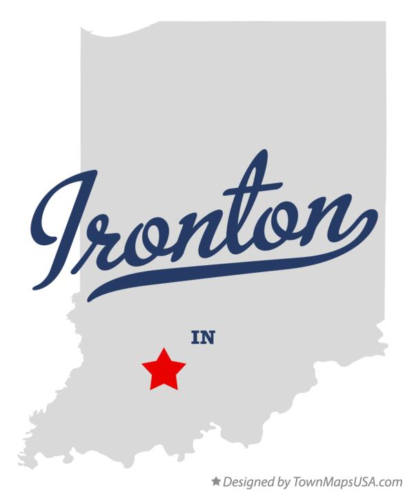 Map of Ironton Indiana IN