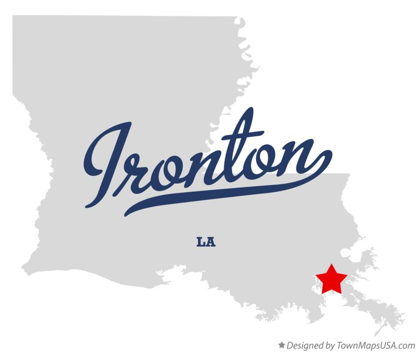 Map of Ironton Louisiana LA