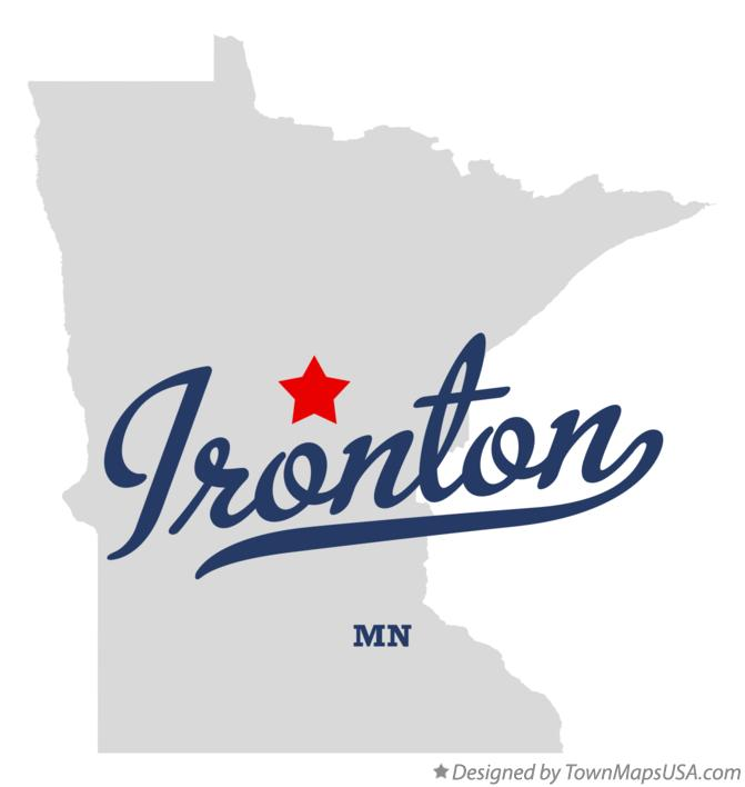 Map of Ironton Minnesota MN